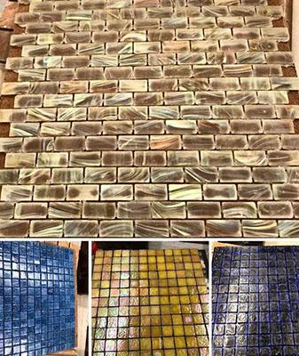 In-Stock glass tile at Clarks Building & Decorating Center in Hot Springs, Arizona