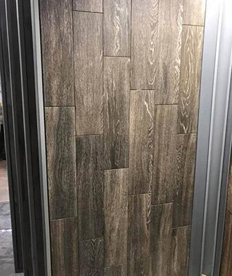 In stock woodgrain porcelain tile